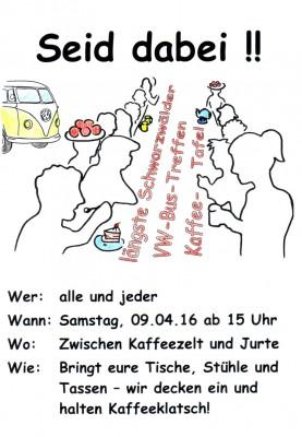 Rekordversuch: Längste VW-Bus-Treffen-Kaffeetafel